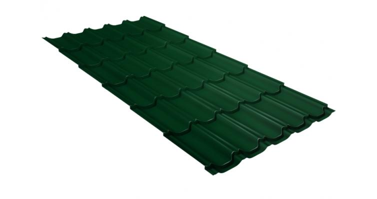 Металлочерепица квинта плюс Grand Line 0,5 Satin RAL 6005 зеленый мох