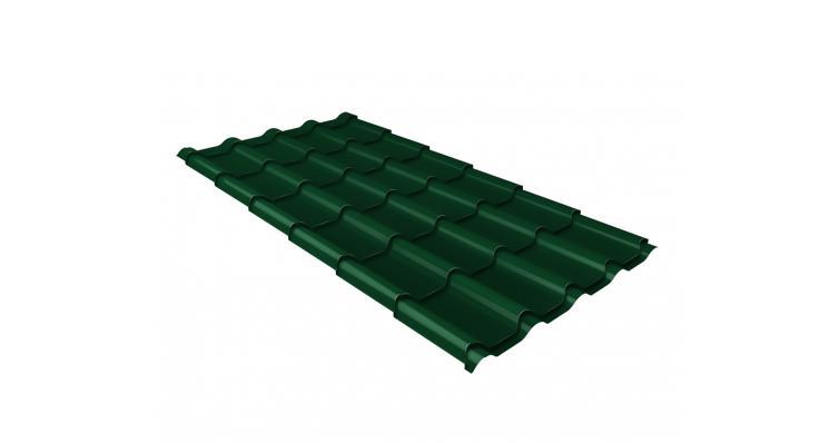 Металлочерепица камея Grand Line 0,5 Polydexter RAL 6005 зеленый мох
