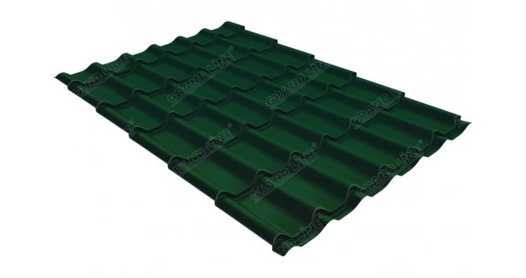 Металлочерепица классик Grand Line 0,5 Polydexter RAL 6005 зеленый мох