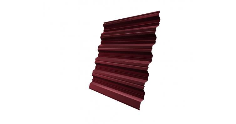 Профнастил HC35R 0,45 PE RAL 3005 красное вино DRIP