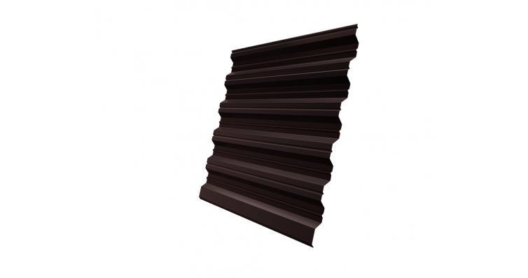 Профнастил HC35R 0,45 PE RAL 8017 шоколад DRIP