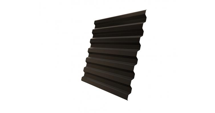 Профнастил С21R 0,45 PE RR 32 темно-коричневый DRIP