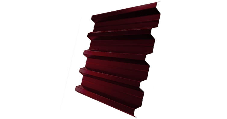 Профнастил H60R Grand Line 0,5 Quarzit RAL 3005 красное вино