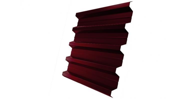 Профнастил H60R Grand Line 0,5 Quarzit RAL 3005 красное вино DRIP