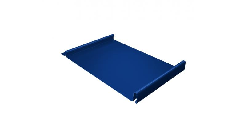 Кликфальц 0,45 PE с пленкой на замках RAL 5005 сигнальный синий