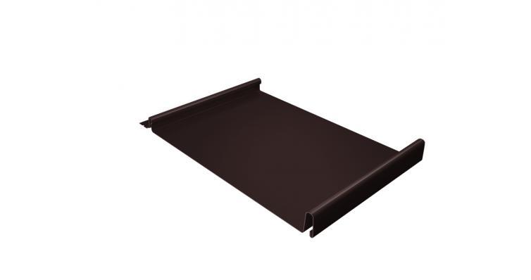 Кликфальц 0,5 Satin с пленкой на замках RAL 8017 шоколад