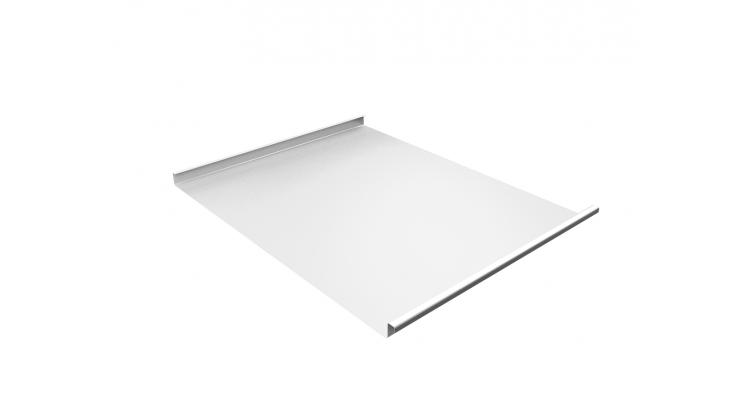 Фальц двойной стоячий 0,7 PE с пленкой на замках RAL 9003 сигнальный белый