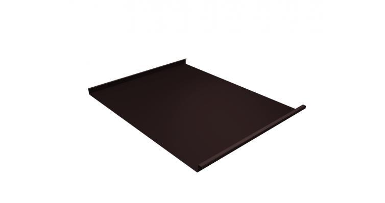 Фальц двойной стоячий 0,5 Satin с пленкой на замках RAL 8017 шоколад