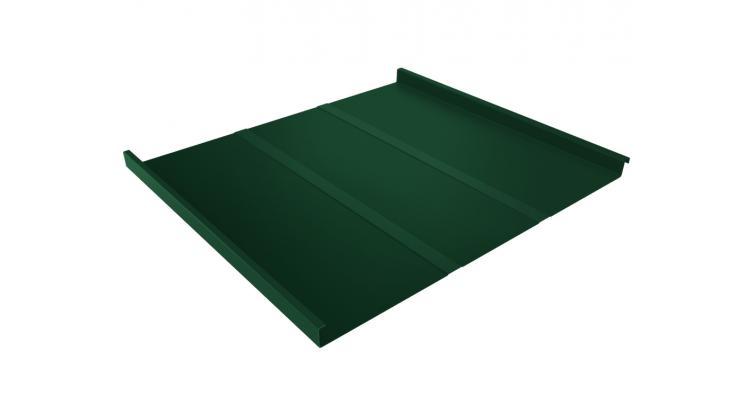 Фальц двойной стоячий Профи 0,5 Satin с пленкой на замках RAL 6005 зеленый мох