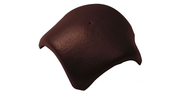 Вальмовая черепица с 3 зажимами Braas коричневый