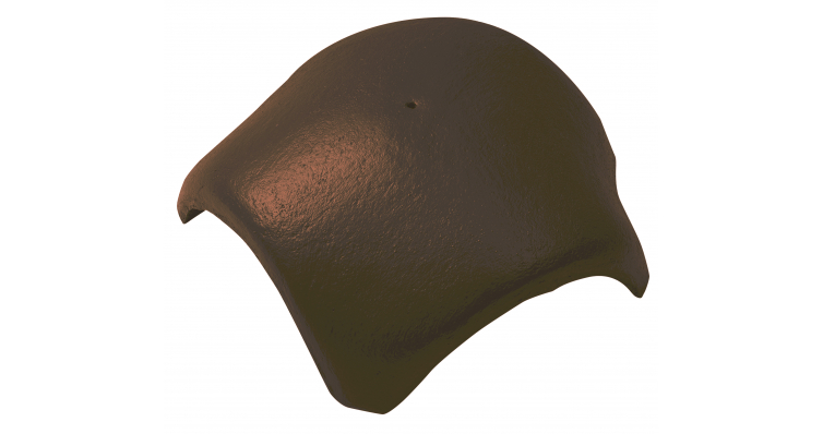 Вальмовая черепица с 3 зажимами Braas темно-коричневый