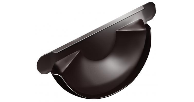 Заглушка торцевая универсальная 125 мм RAL 8017 шоколад