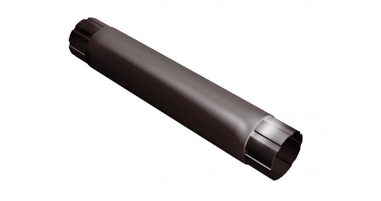 Труба круглая соединительная 90мм 1м RAL 8017 шоколад