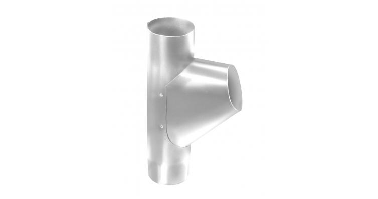 Тройник трубы,100 мм RAL 9003 сигнальный белый