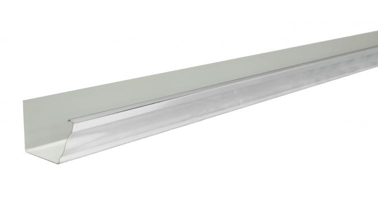 Желоб прямоугольный Vortex 127мм 3м RAL 9003