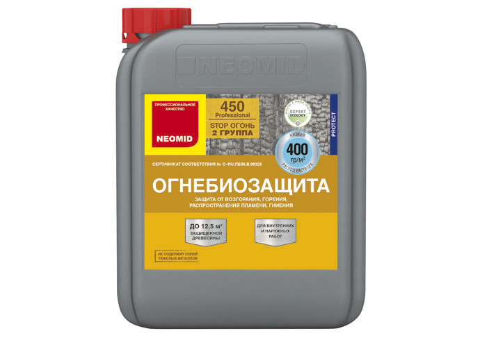 Neomid Огнебиозащита II группа Neomid 450 готовый 5 кг красный