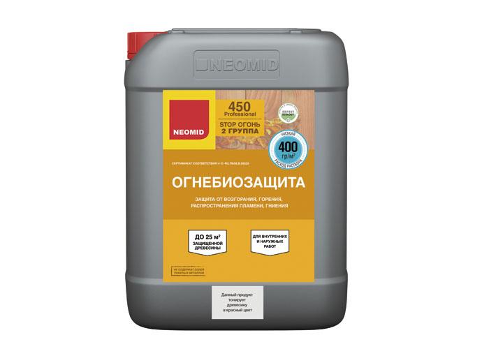 Neomid Огнебиозащита II группа Neomid 450 готовый 10 кг красный