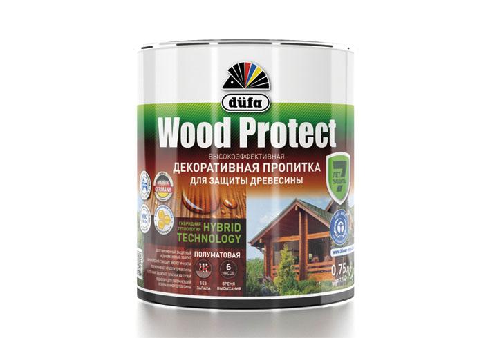 """Dufa Пропитка """"Wood Protect"""" для защиты древесины бесцветный    750 мл"""