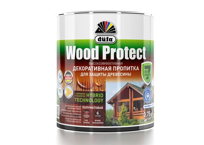 "Dufa Пропитка ""Wood Protect"" для защиты древесины орех    750 мл"