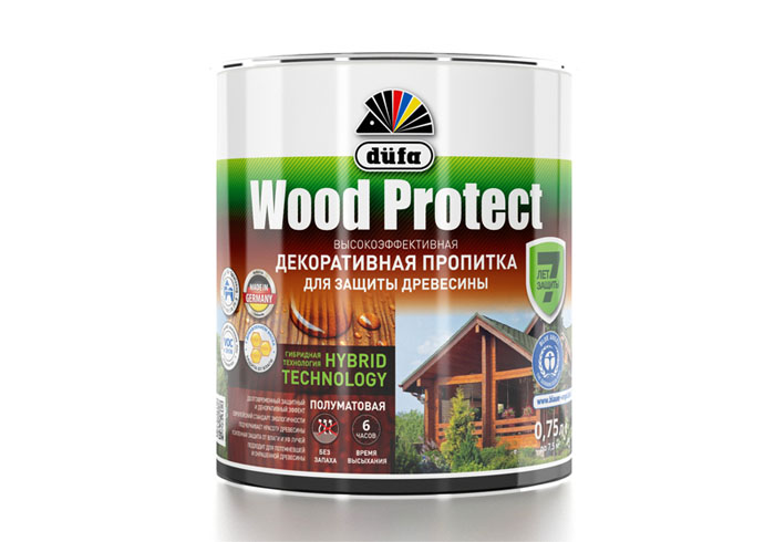 "Dufa Пропитка ""Wood Protect"" для защиты древесины сосна    750 мл"