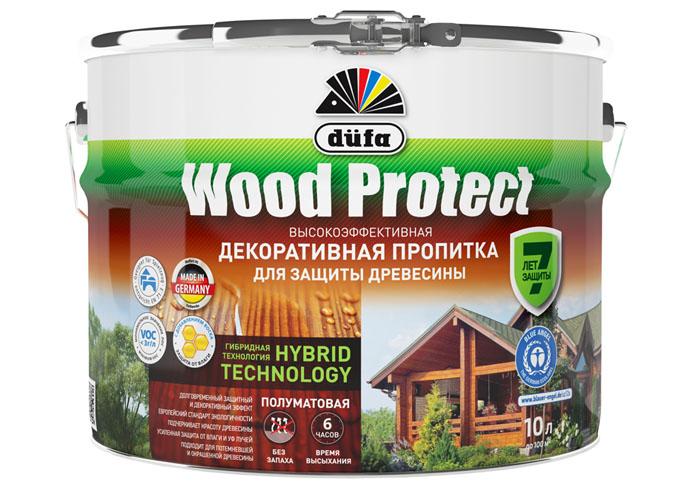 "Dufa Пропитка ""Wood Protect"" для защиты древесины палисандр 10 л, шт"