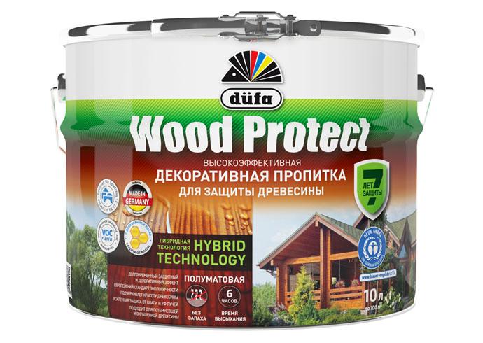 """Dufa Пропитка """"Wood Protect"""" для защиты древесины тик 10 л, шт"""