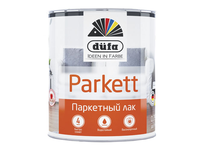 Dufa Retail Лак PARKETT паркетный матовый   750мл