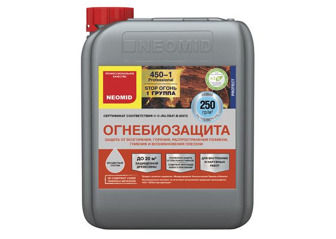 Neomid Огнебиозащита I группа Neomid 450 готовый 5 кг