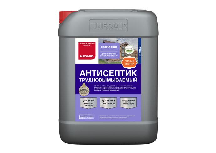 Neomid Extra Eco Трудновымываемый антисептик для древесины готовый 10 кг
