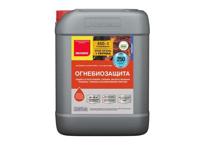 Neomid Огнебиозащита I группа Neomid 450 готовый 10 кг красный