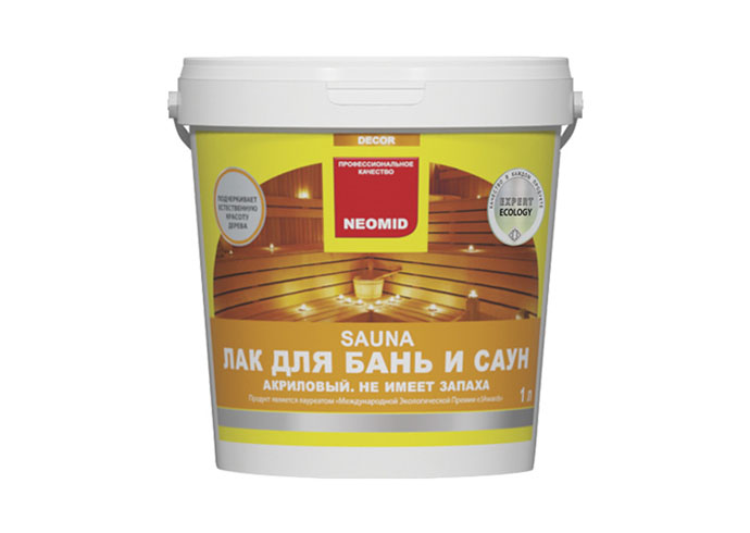 Neomid Лак акриловый для бань и саун Sauna 1 л