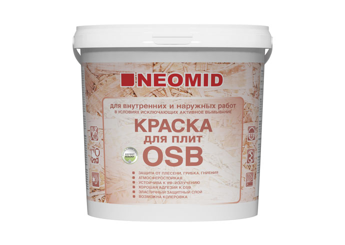 Neomid Краска для плит OSB для наруж. и внутр. работ,  7кг