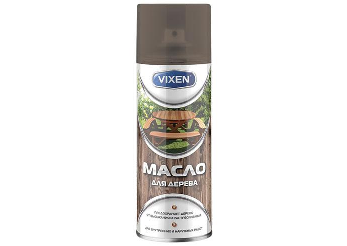 VIXEN Масло для дерева, коричневый, аэрозоль 12х520 мл.