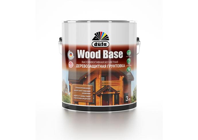 """Dufa Грунтовка """"Wood Base"""" с биоцидом бесцветная  3л"""