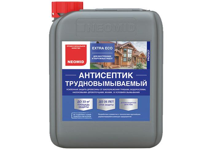 Трудновымываемый антисептик NEOMID EXTRA ECO 5 литров