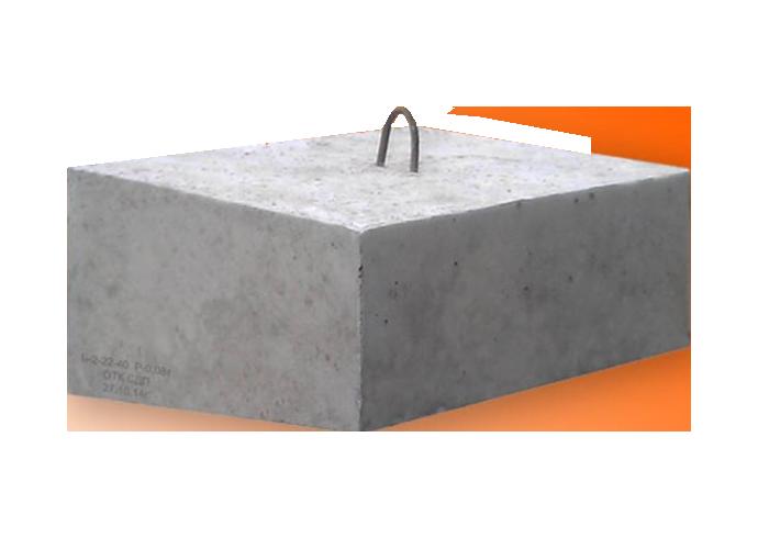 Бетонный блок 500x500x100 Ф1 армированные