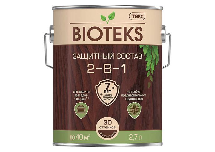 Защитный состав 2-в-1 BIOTEKS вишня 2.7л