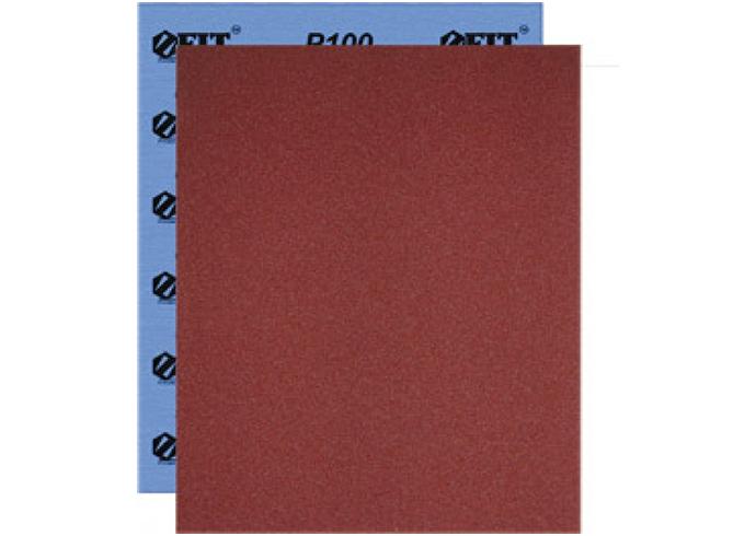Бумага наждачная водостойкая, на тканевой основе, алюминий-оксидная, Профи, 230х280 мм, 10 шт. Р 80