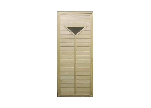 Дверь для бани или сауны (со стеклом) 70x180