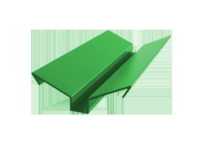 Ендова внешняя полиэстер ширина полки 90 мм x 1000 зеленый