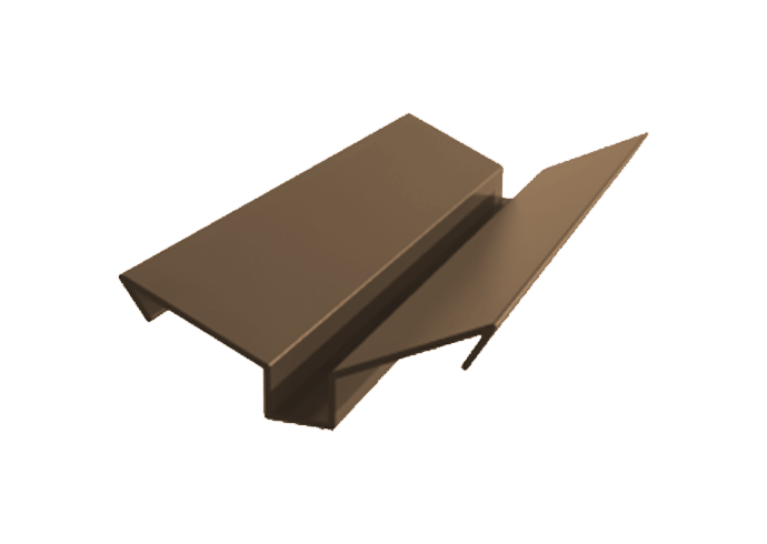 Ендова внешняя полиэстер ширина полки 90 мм x 1000 коричневый