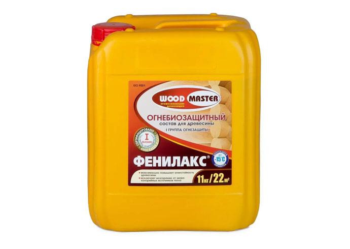Огнебиозащитный состав для древесины фенилакс woodmaster 11 кг