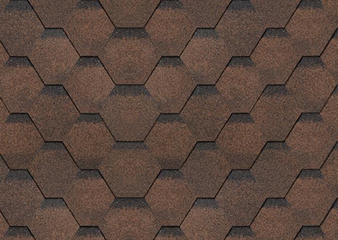 Финская черепица Соната цвет коричневый