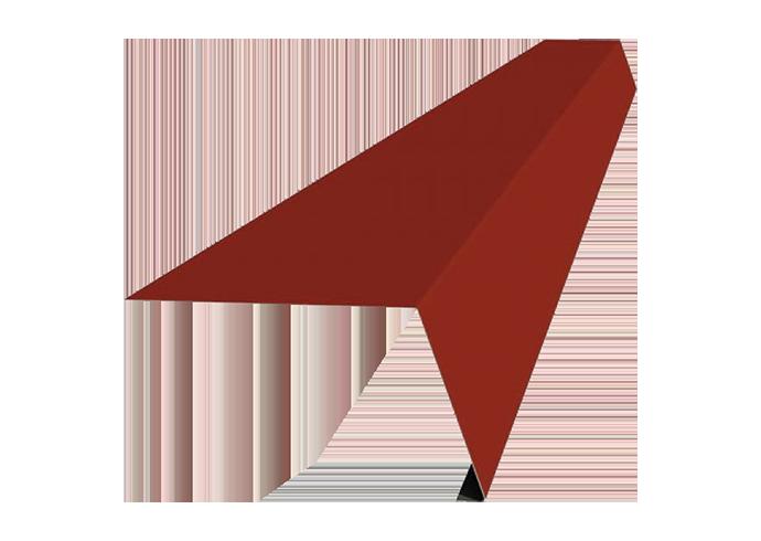 Карнизная планка полиэстер 120х60 мм красная