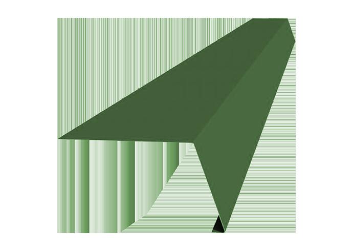 Карнизная планка полиэстер 120х60 мм зеленая