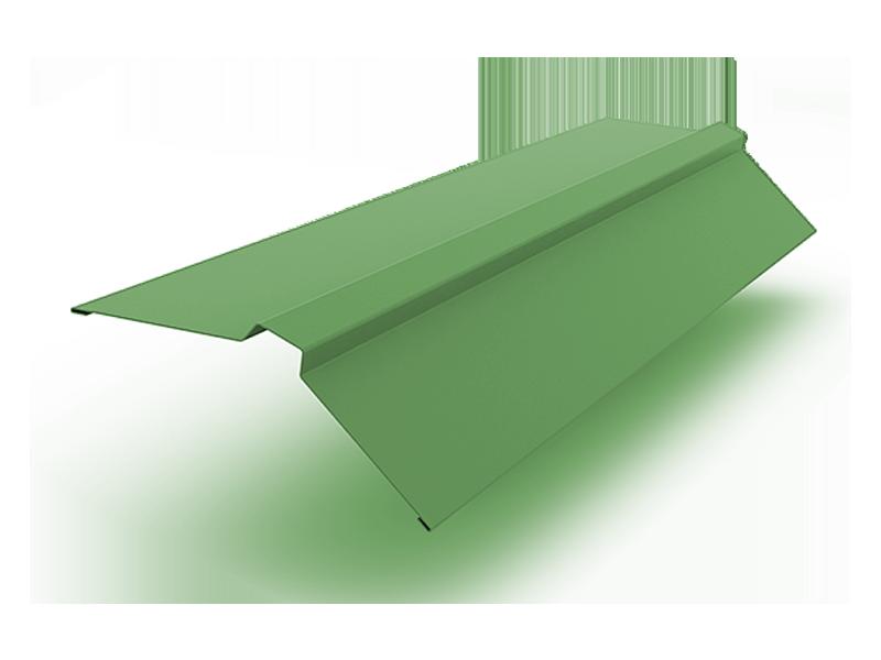 Конек прямоугольный полиэстер ширина полки 150 мм зеленый