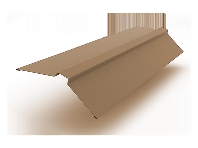 Конек прямоугольный полиэстер ширина полки 150 мм коричневый