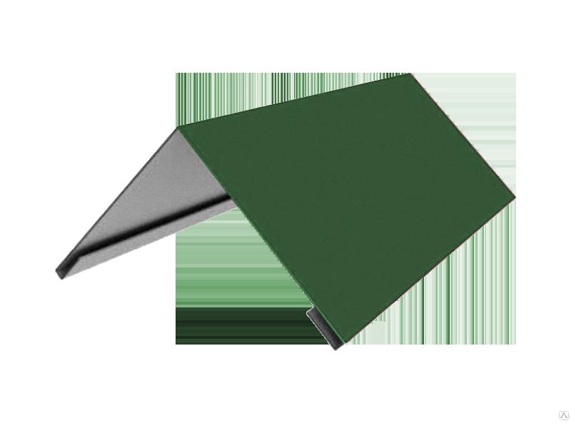 Конек треугольный полиэстер  ширина полки 200 мм зеленый