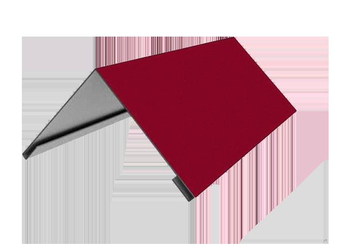 Конек треугольный полиэстер  ширина полки 200 мм красный