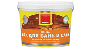 Лак NEOMID SAUNA для бань и саун